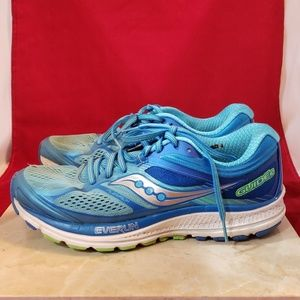 Saucony Glide 10 Size 9 Blue Small Hole No Insole